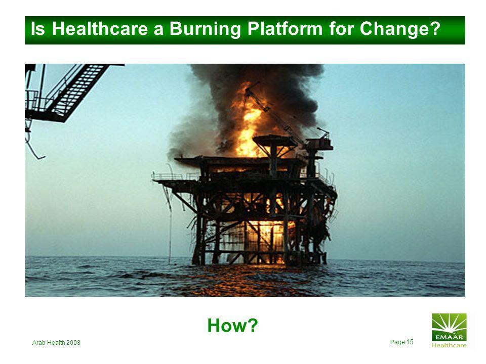 Is Healthcare a Burning Platform for Change