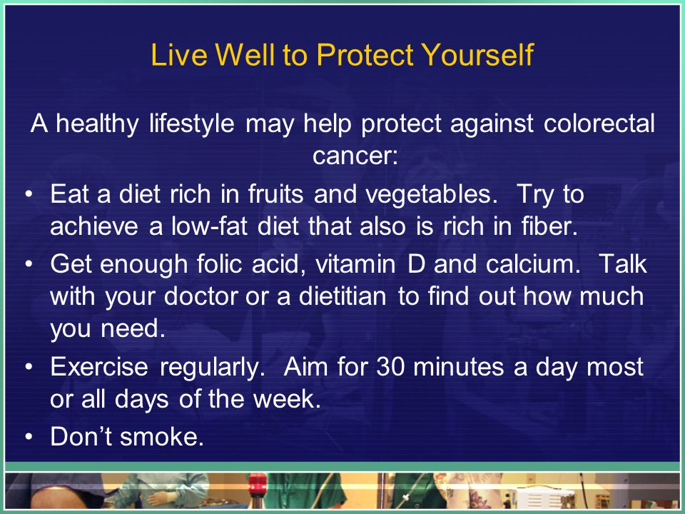 Live Well to Protect Yourself