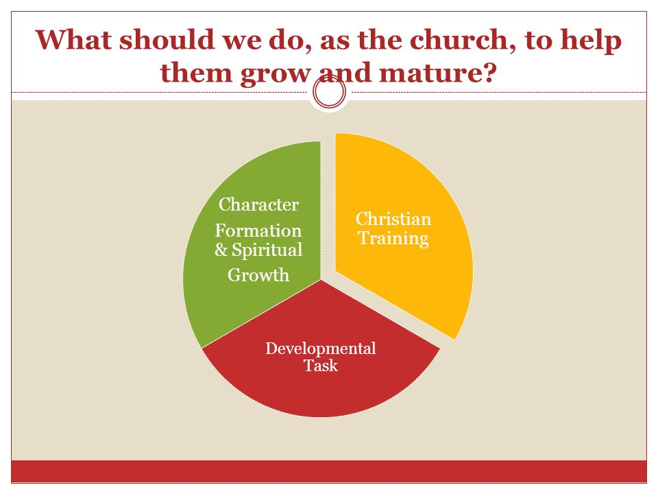 What should we do, as the church, to help them grow and mature
