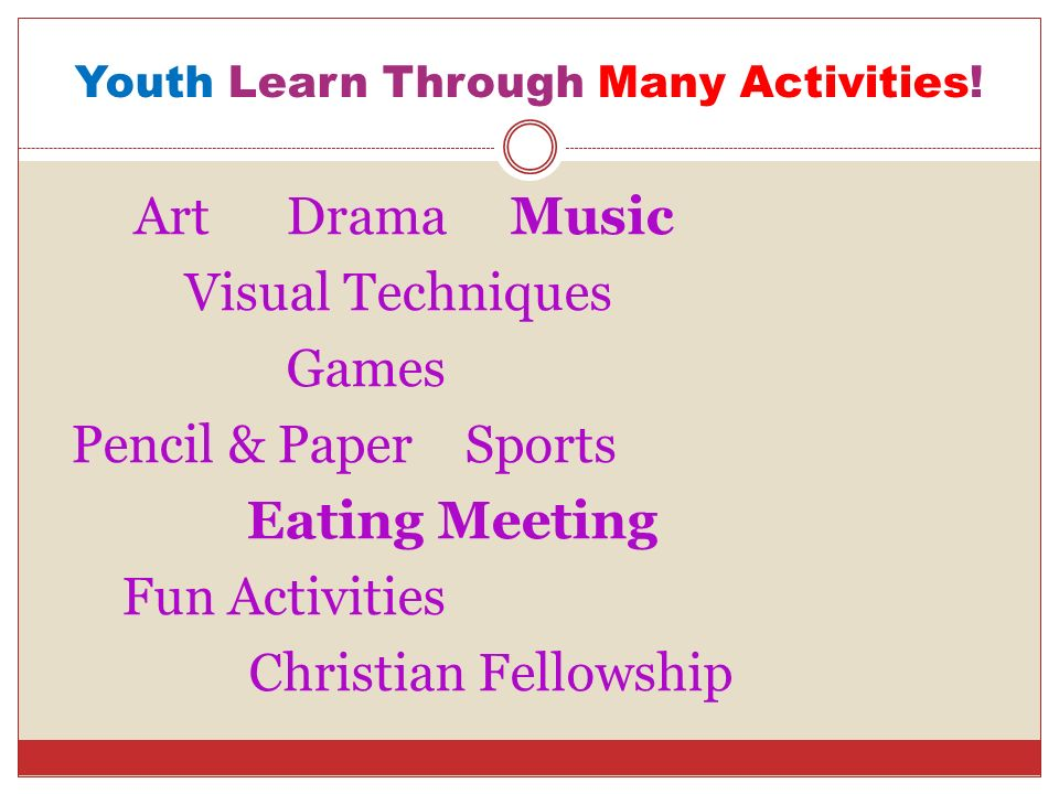 Youth Learn Through Many Activities!