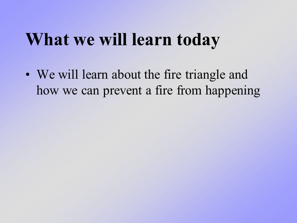 We have already learned that: