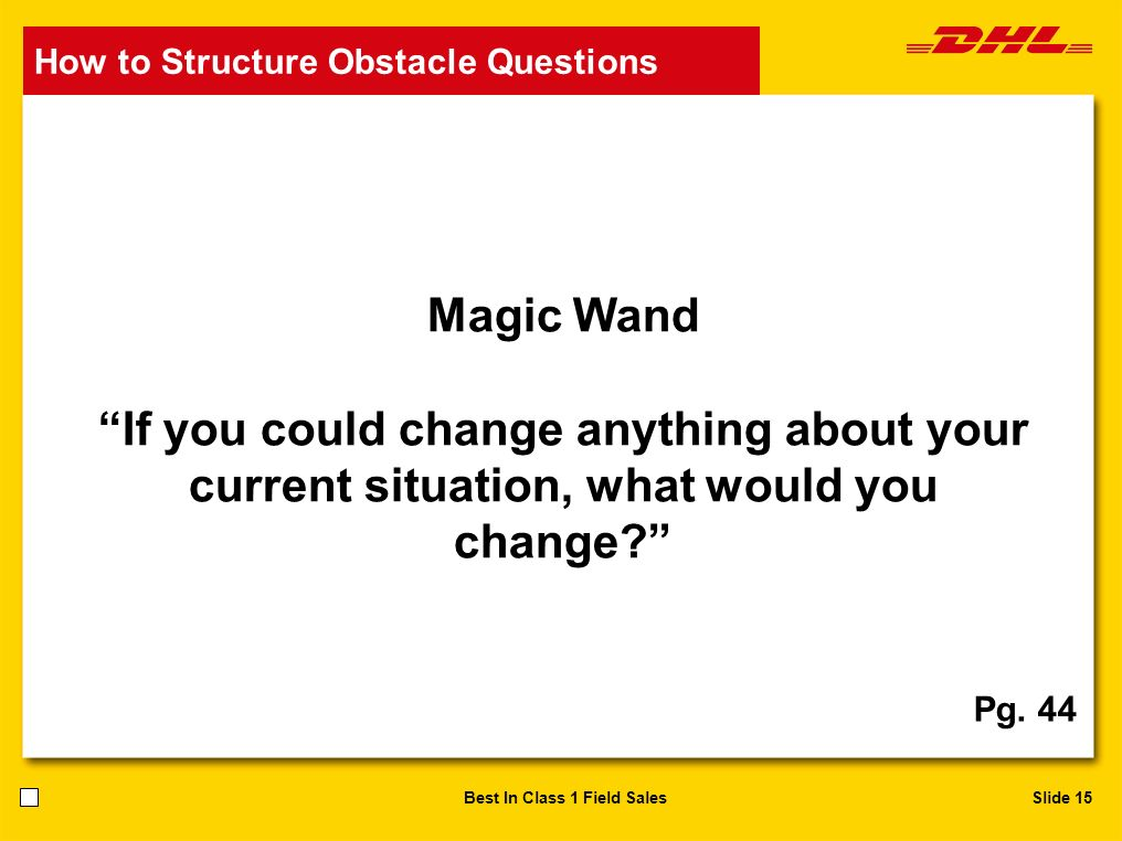 How to Structure Obstacle Questions