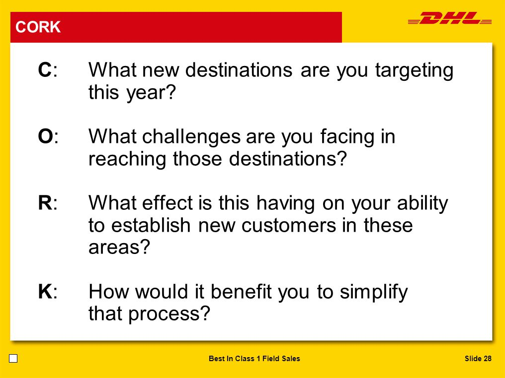 C: What new destinations are you targeting this year