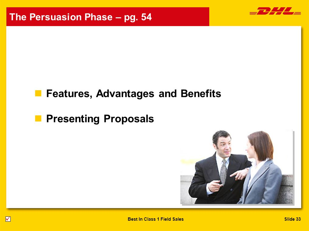 Features, Advantages and Benefits Presenting Proposals