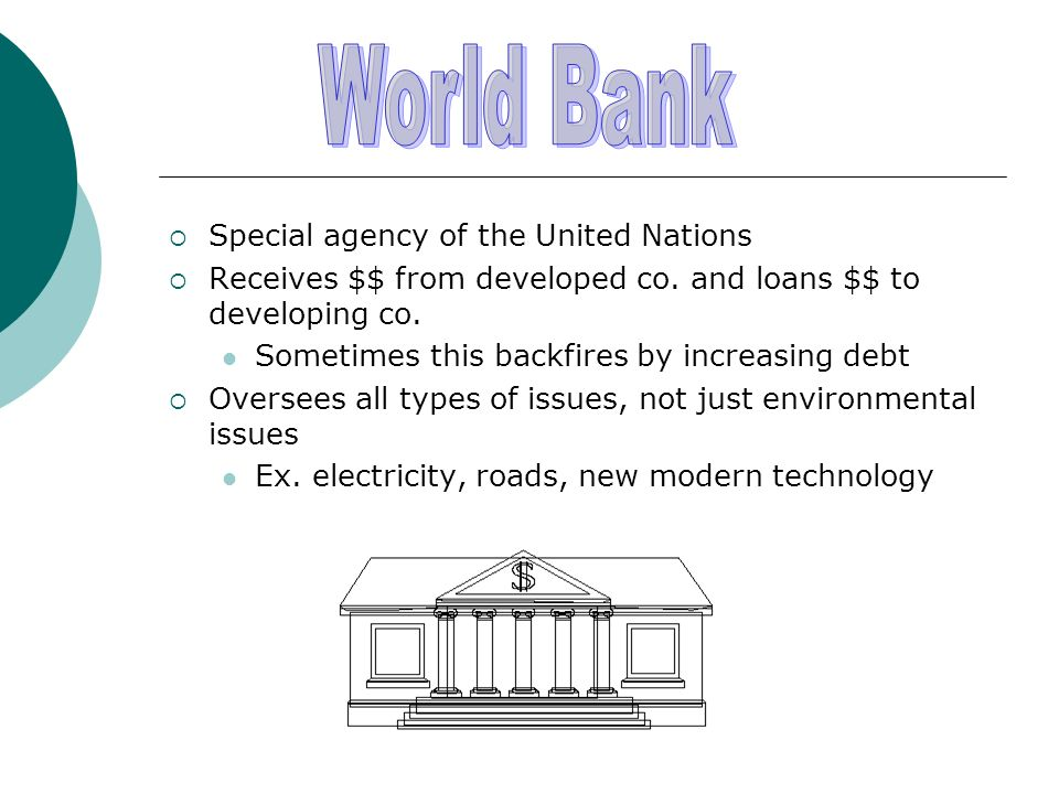 World Bank Special agency of the United Nations