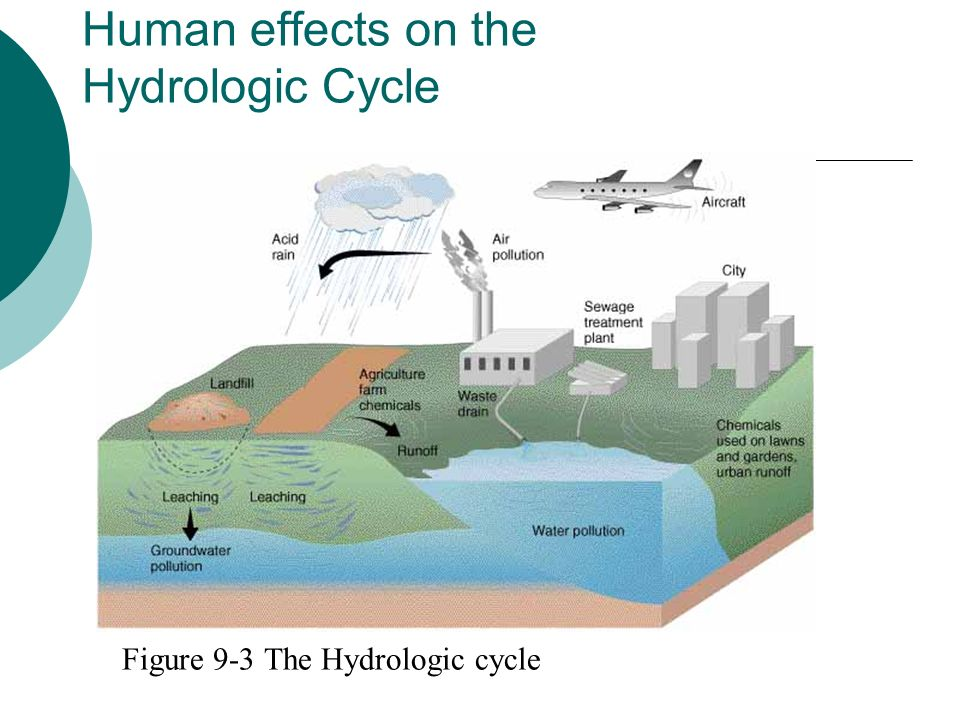 Human effects on the Hydrologic Cycle