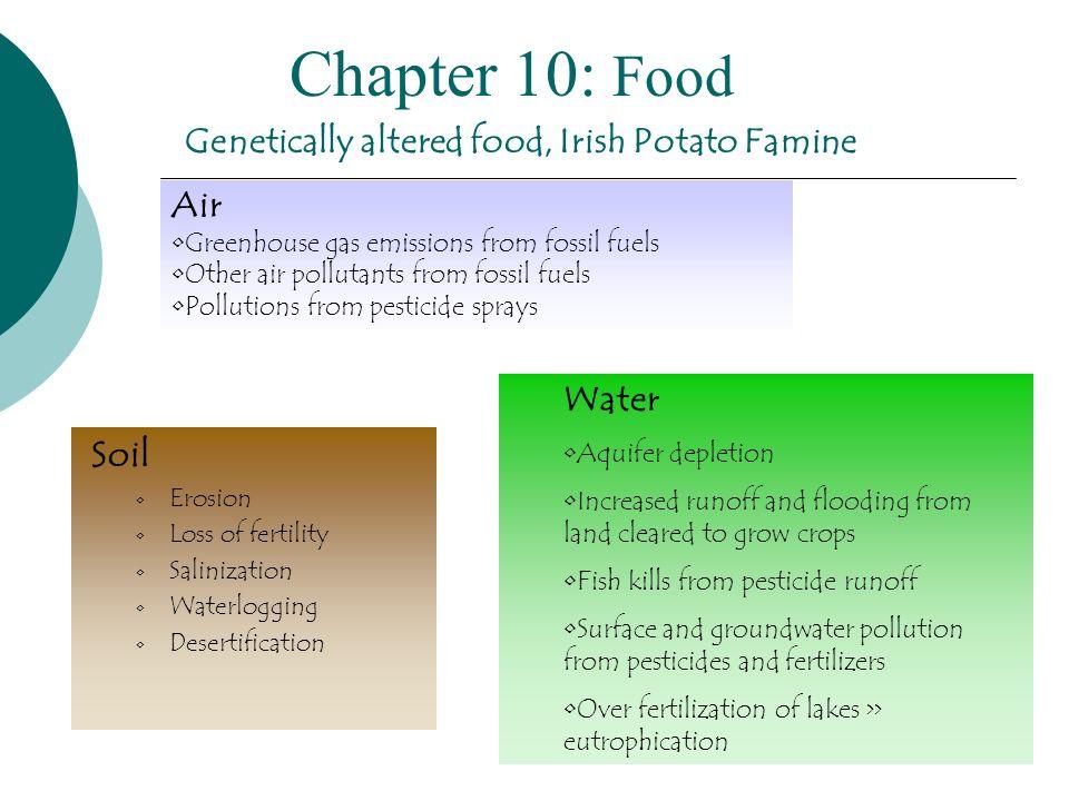 Genetically altered food, Irish Potato Famine