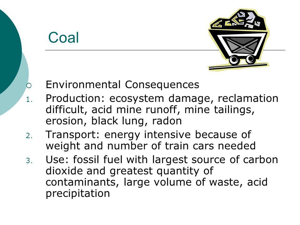 Coal Environmental Consequences