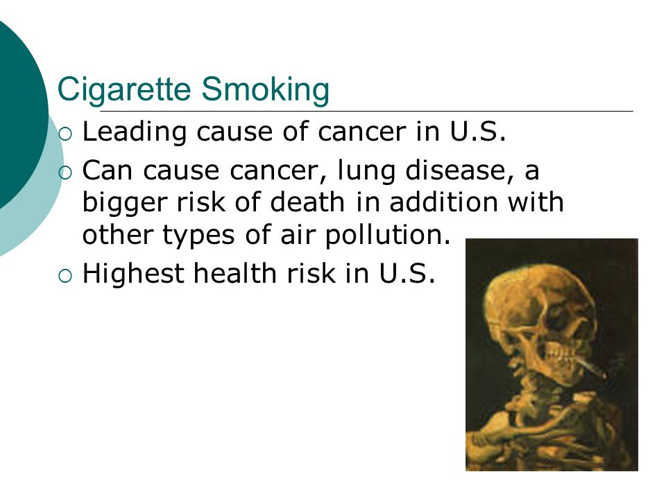 Cigarette Smoking Leading cause of cancer in U.S.