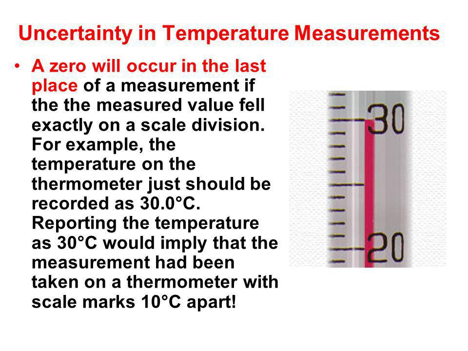 Uncertainty in Temperature Measurements