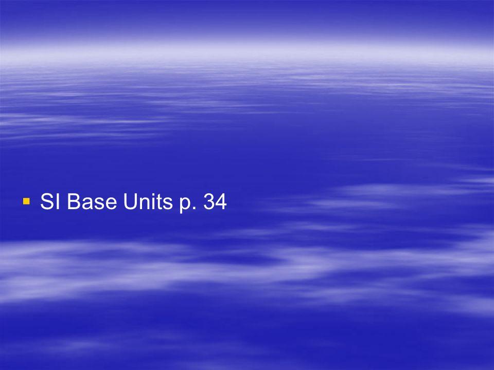SI Base Units p. 34