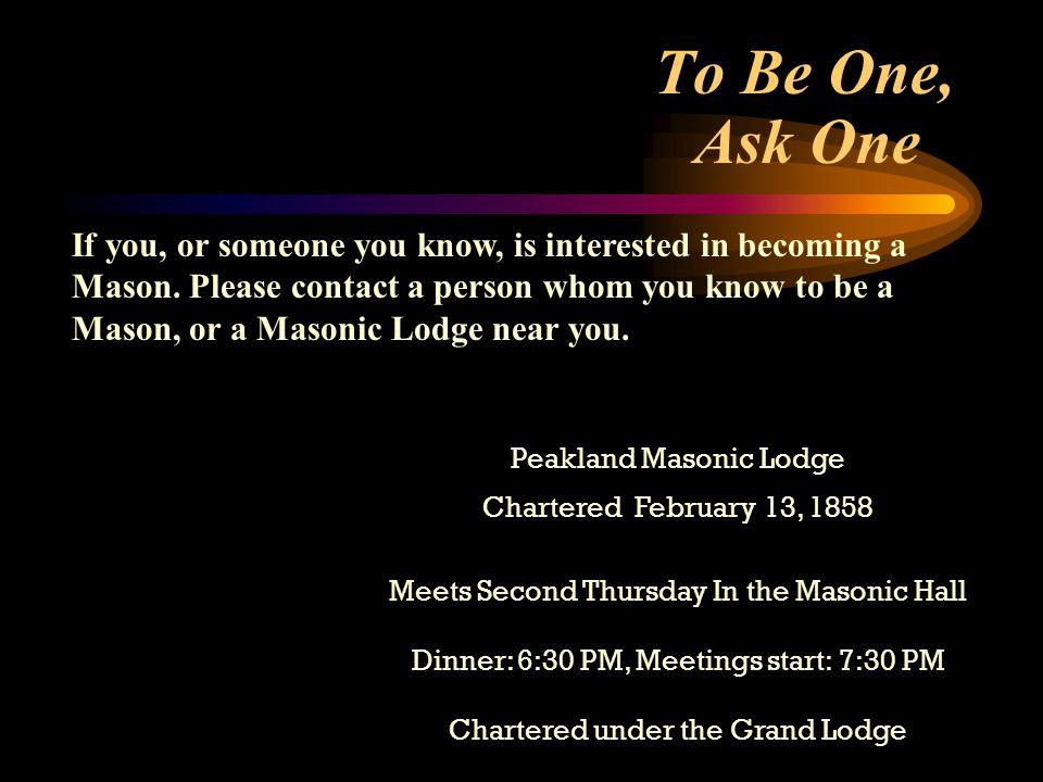 Peakland Masonic Lodge