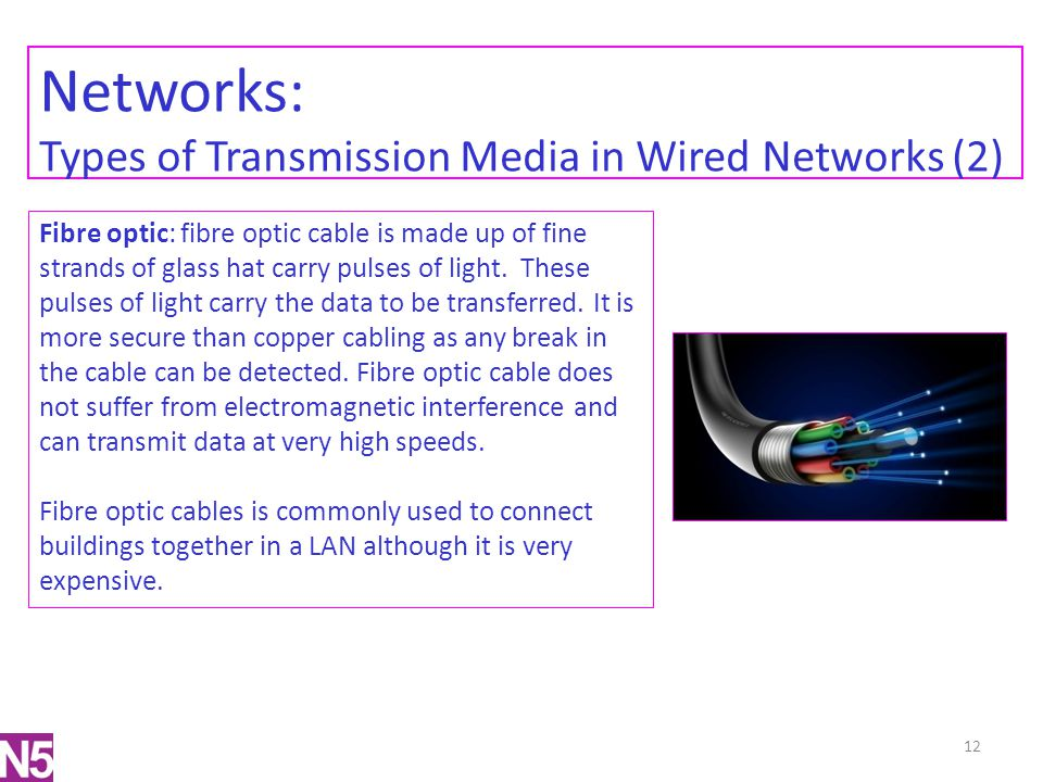 Networks: Types of Transmission Media in Wired Networks (2)