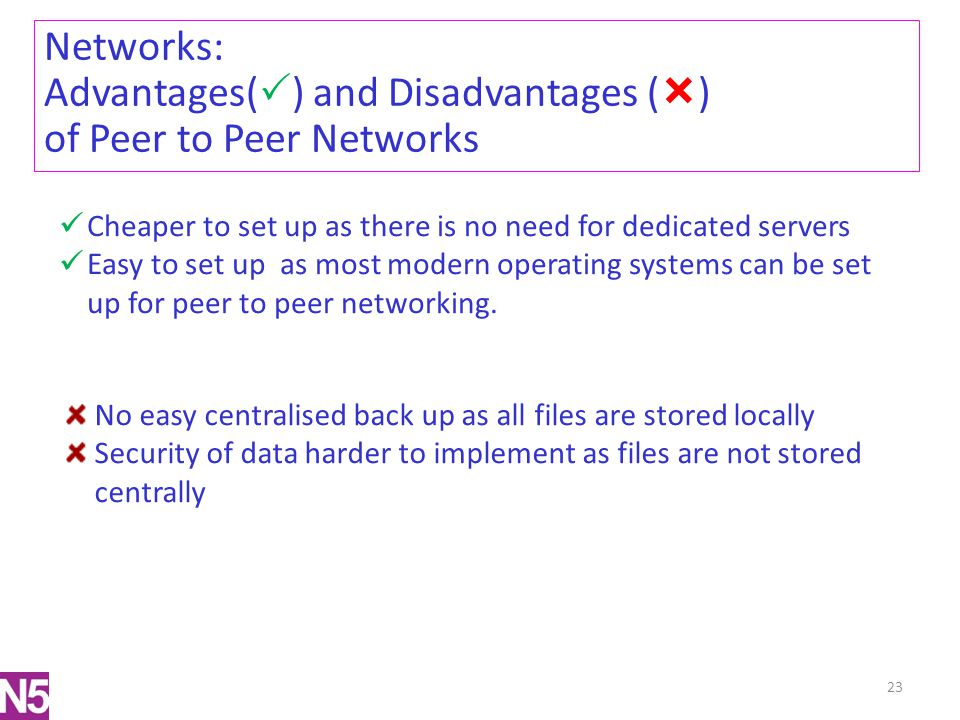 Advantages() and Disadvantages () of Peer to Peer Networks