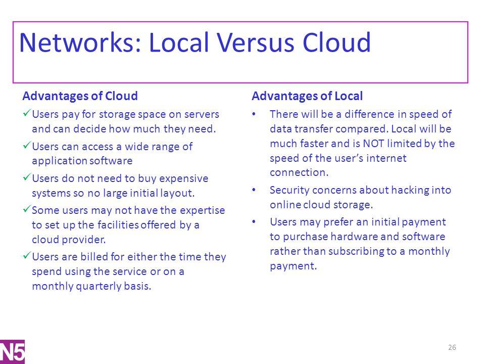 Networks: Local Versus Cloud