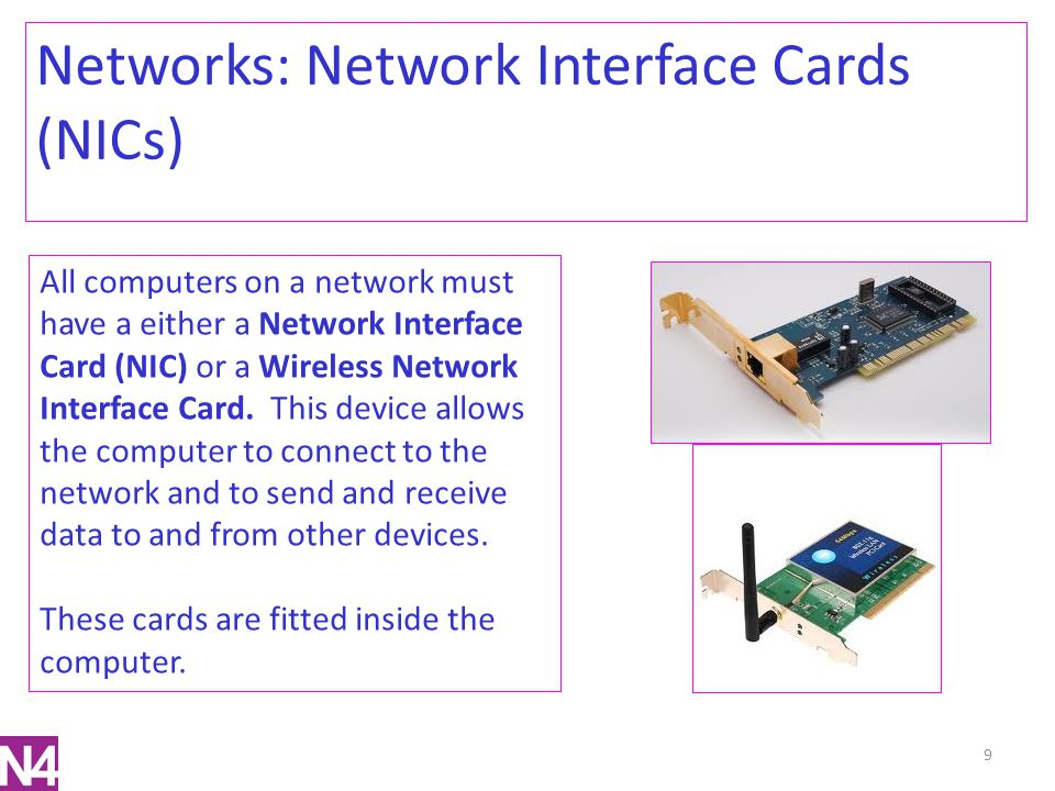 Networks: Network Interface Cards (NICs)