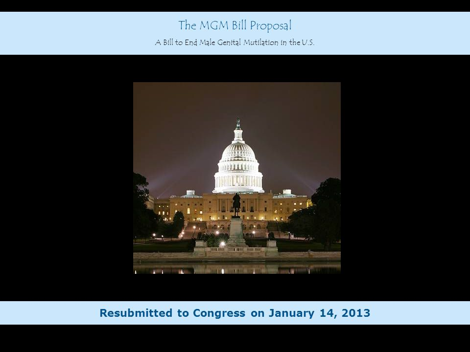 Resubmitted to Congress on January 14, 2013