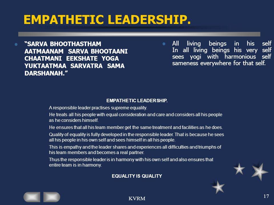 EMPATHETIC LEADERSHIP.