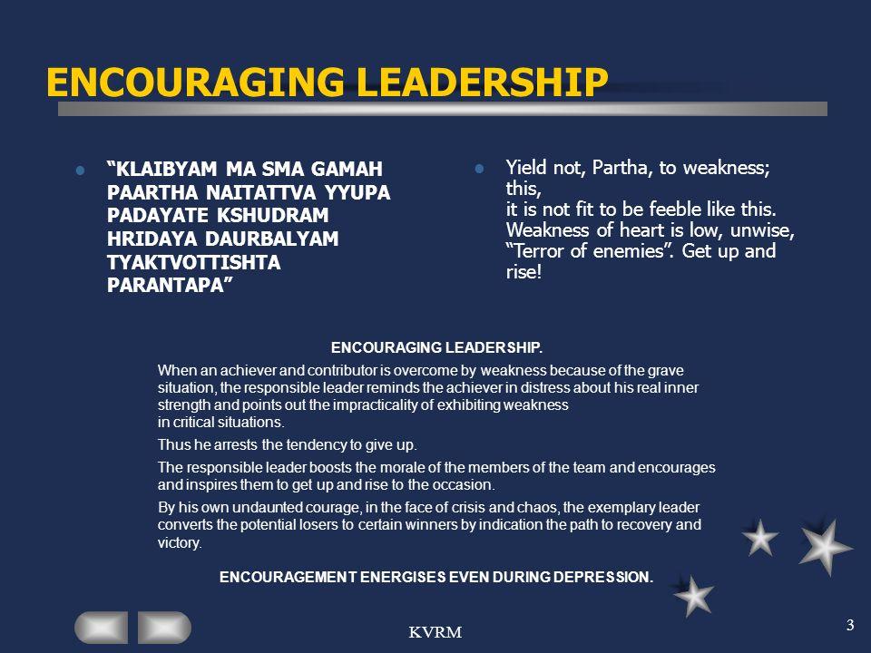 ENCOURAGING LEADERSHIP