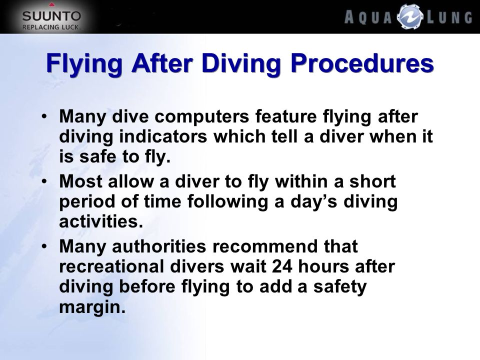 Flying After Diving Procedures