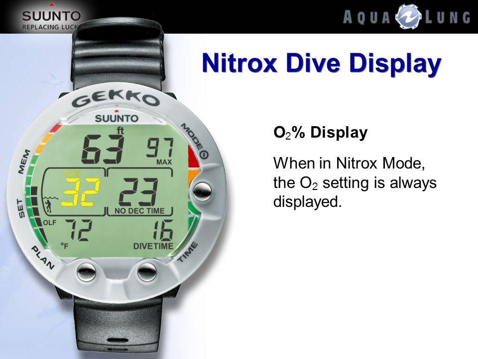 Nitrox Dive Display O2% Display