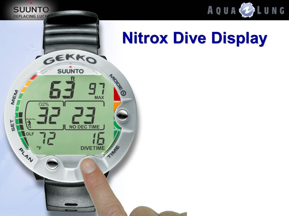 Nitrox Dive Display