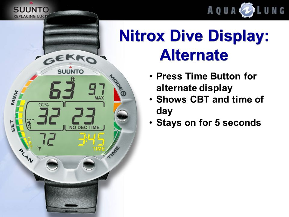 Nitrox Dive Display: Alternate