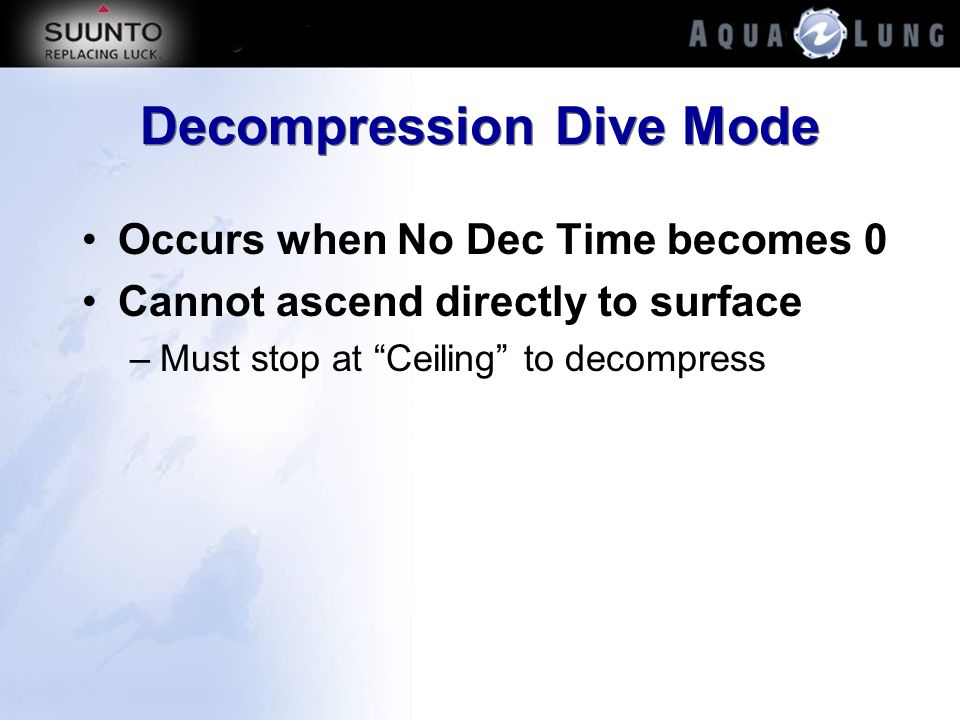 Decompression Dive Mode