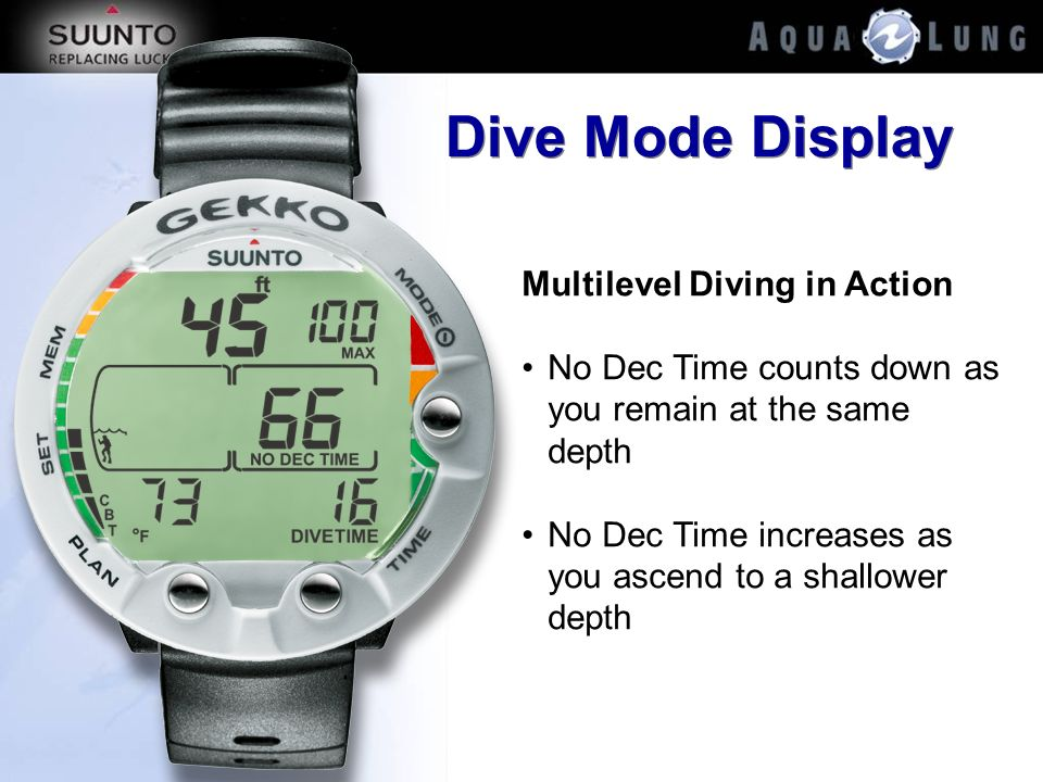 Dive Mode Display Multilevel Diving in Action