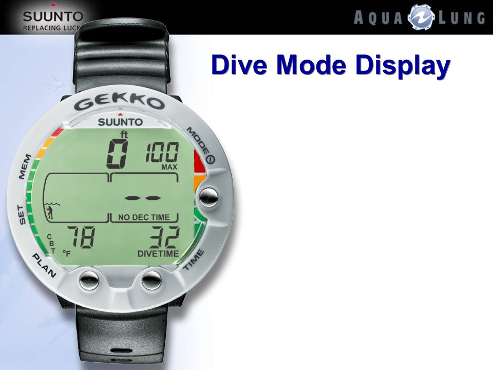 Dive Mode Display