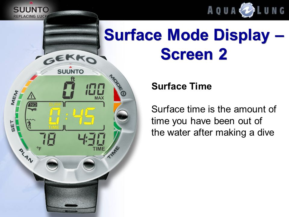 Surface Mode Display – Screen 2