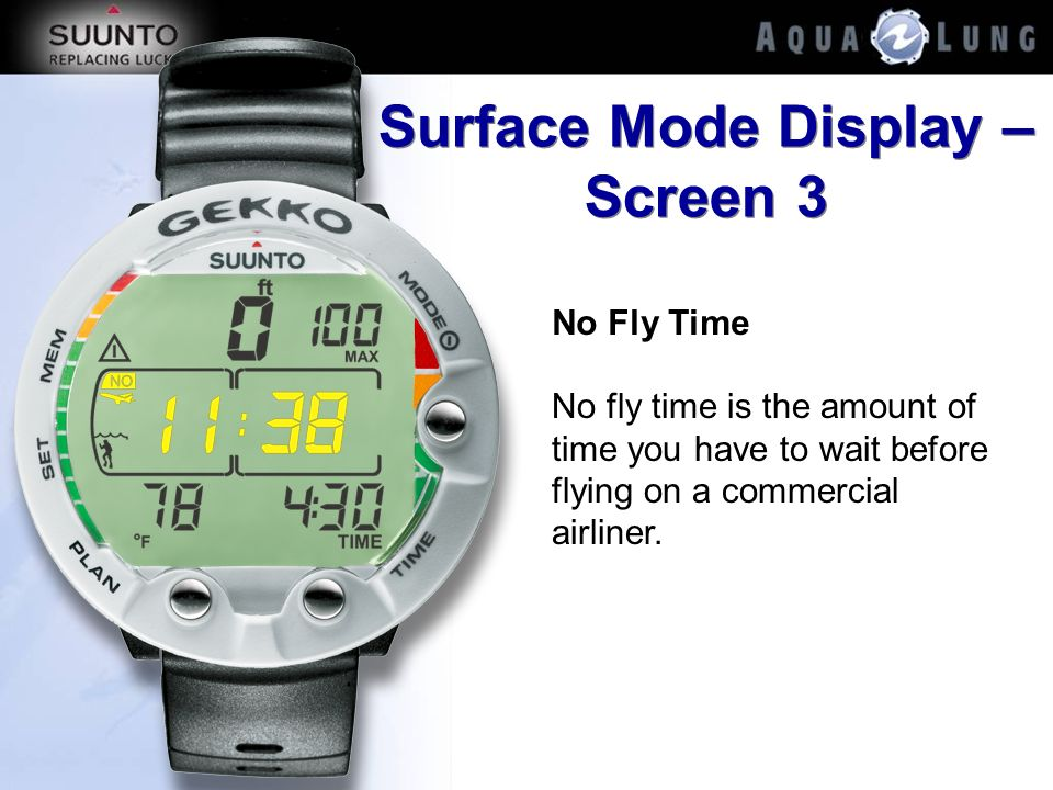 Surface Mode Display – Screen 3