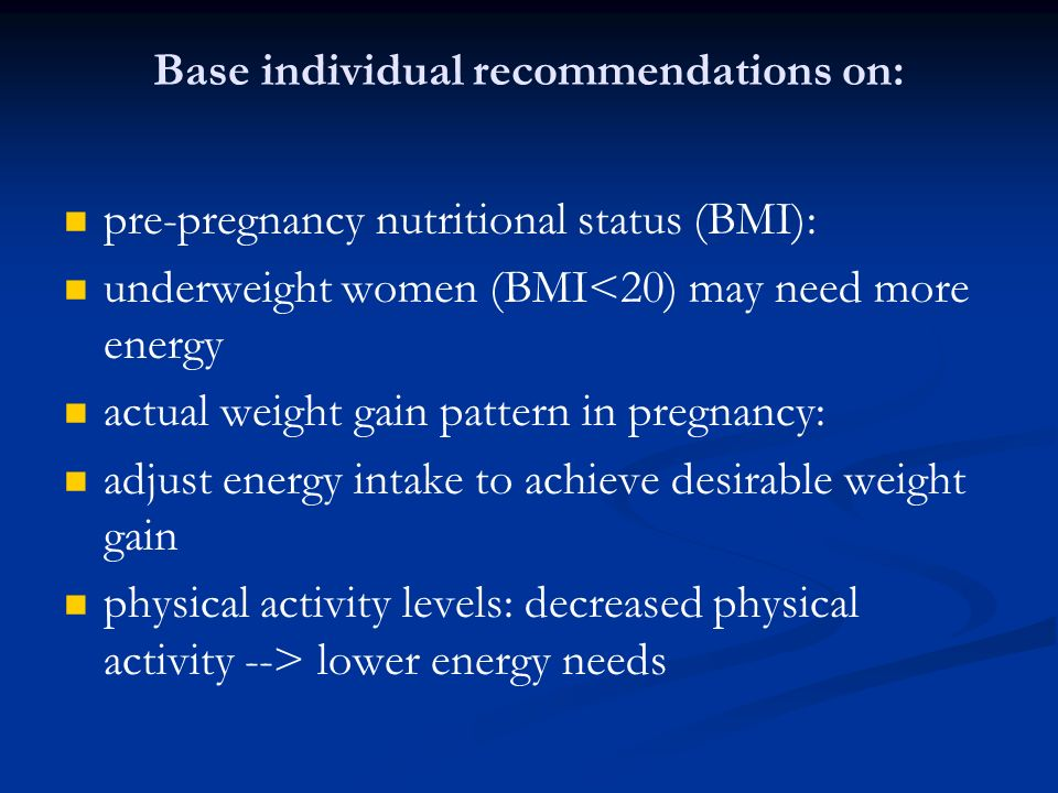 Base individual recommendations on:
