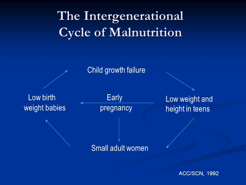 The Intergenerational Cycle of Malnutrition