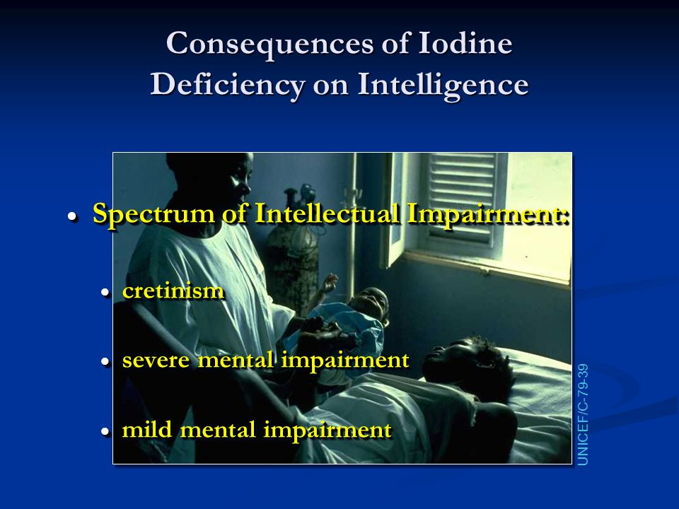 Consequences of Iodine Deficiency on Intelligence