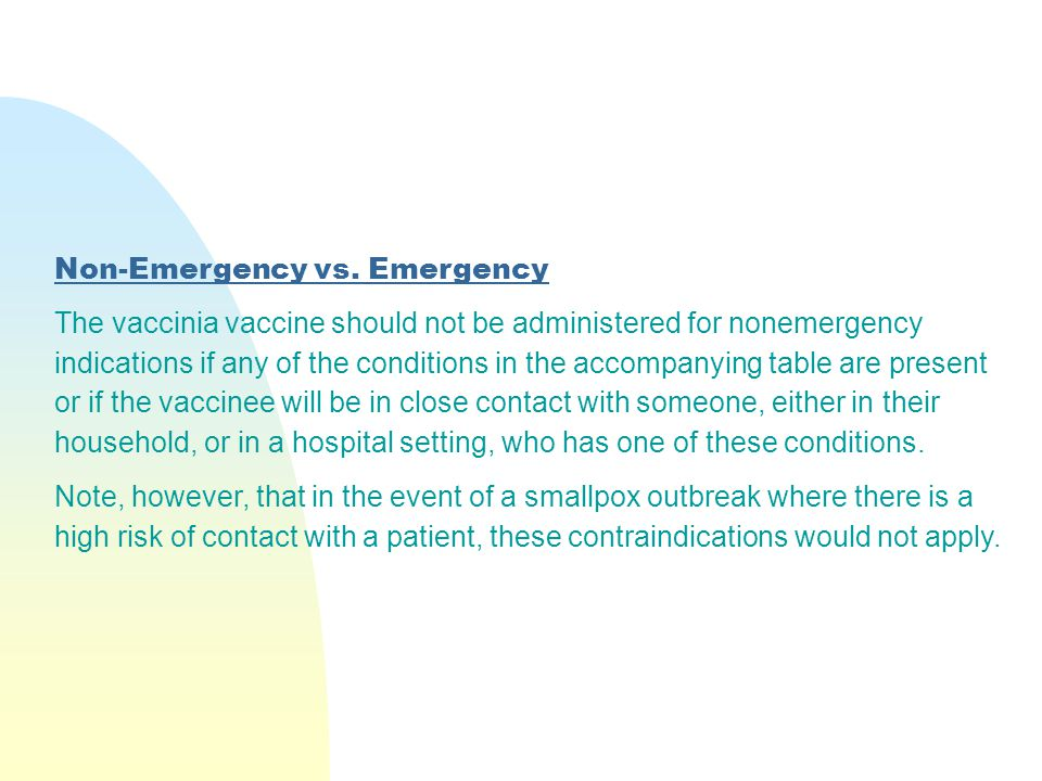 Non-Emergency vs. Emergency