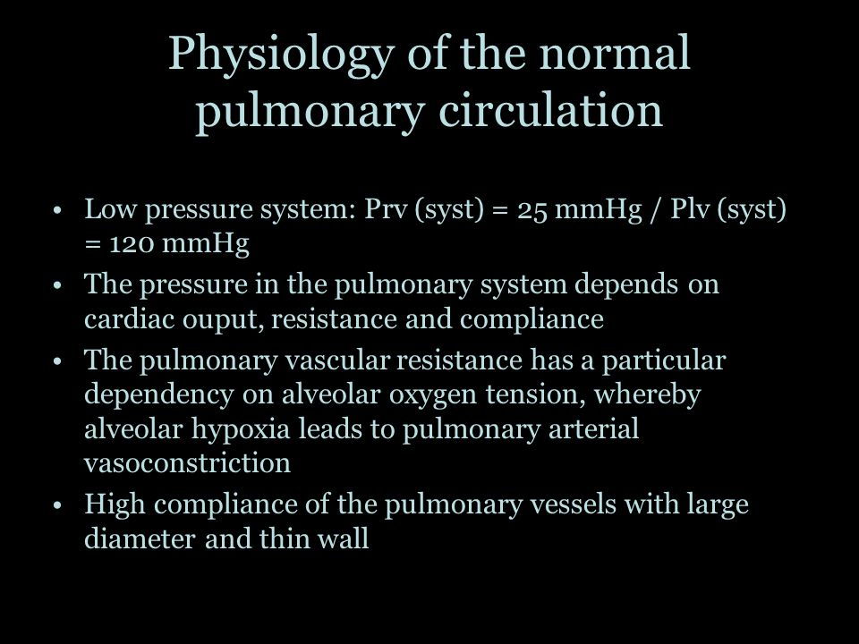 Physiology of the normal pulmonary circulation