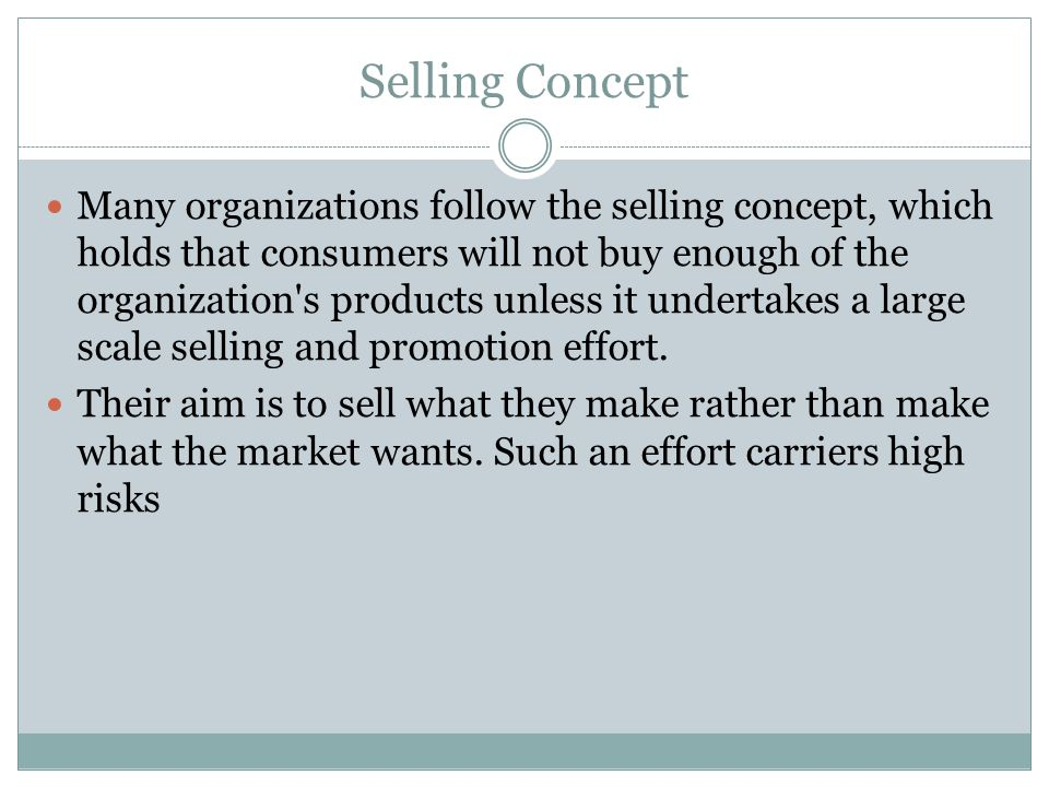 Selling Concept