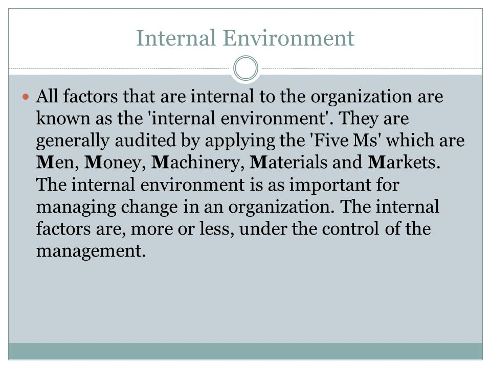 intrenal and external factors in organisations pdf