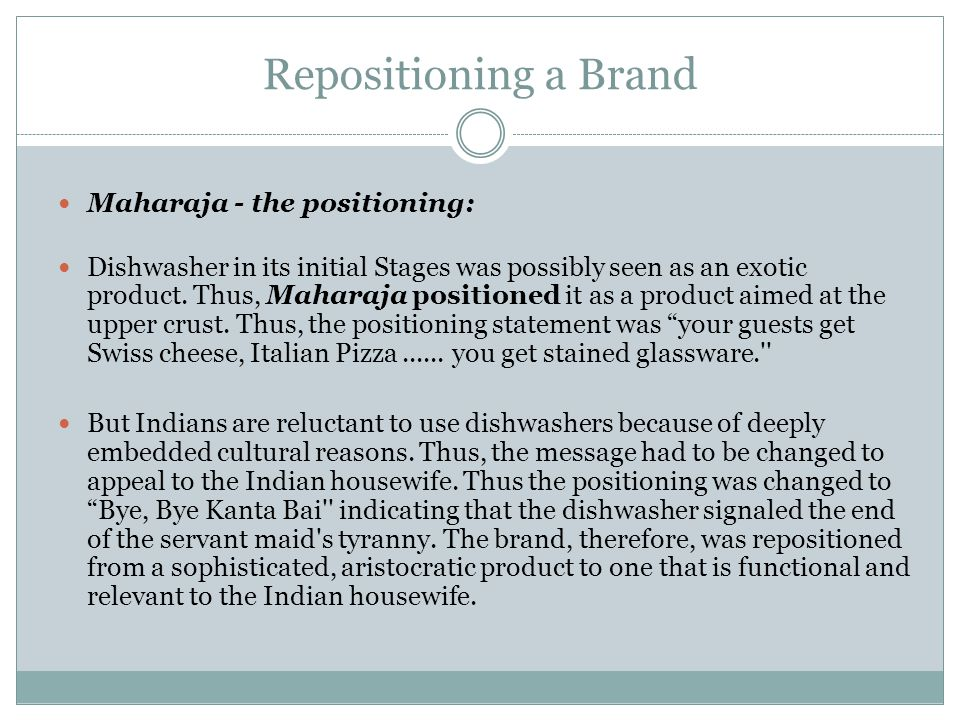 Repositioning a Brand Maharaja - the positioning: