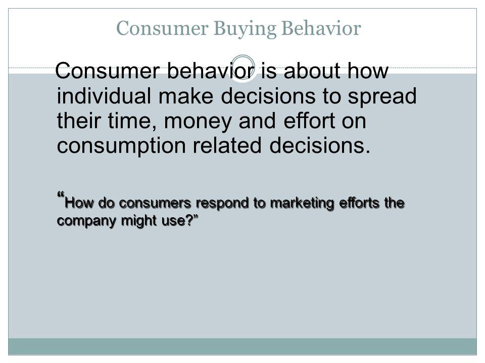 consumer behavior paper Free essay: cultural influences of consumer behavior understanding consumer buying behavior entails marketing, relationships, and consumer behavior consumer.