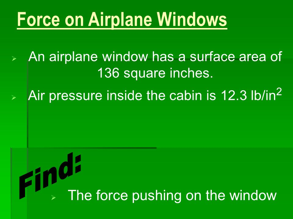 Force on Airplane Windows
