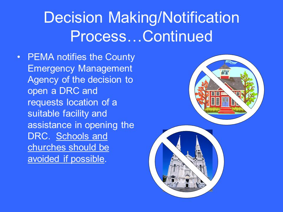 Decision Making/Notification Process…Continued