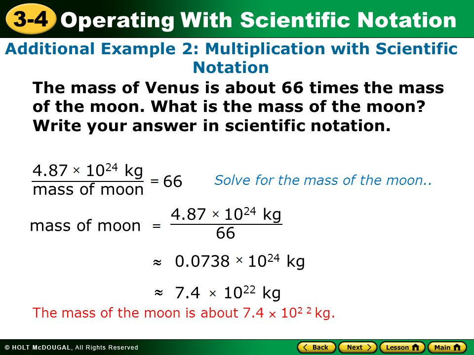 Additional Example 2: Multiplication with Scientific Notation