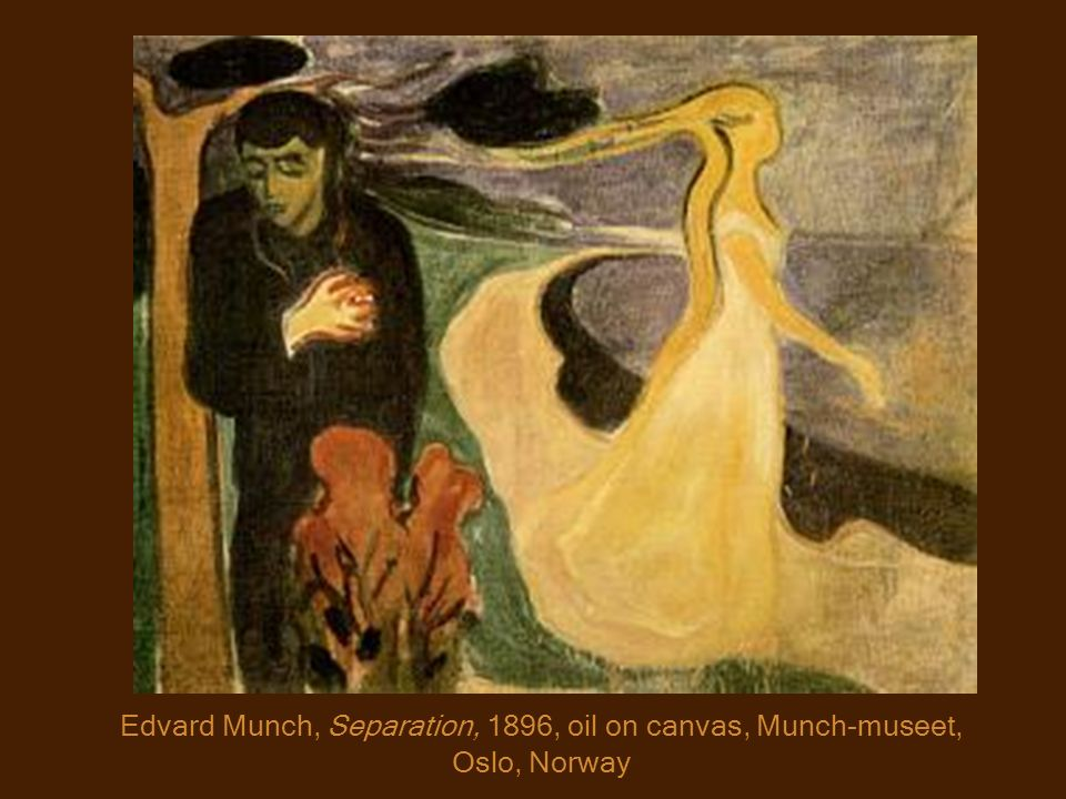 Edvard Munch, Separation, 1896, oil on canvas, Munch-museet, Oslo, Norway