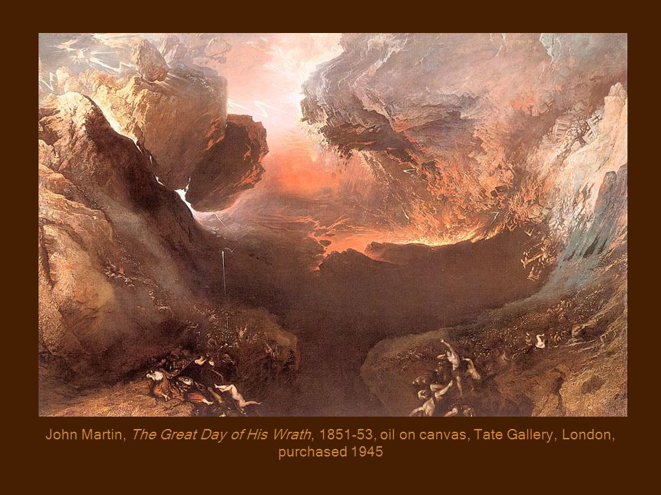 John Martin, The Great Day of His Wrath, 1851-53, oil on canvas, Tate Gallery, London, purchased 1945