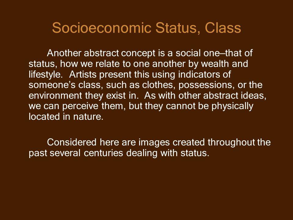 Socioeconomic Status, Class