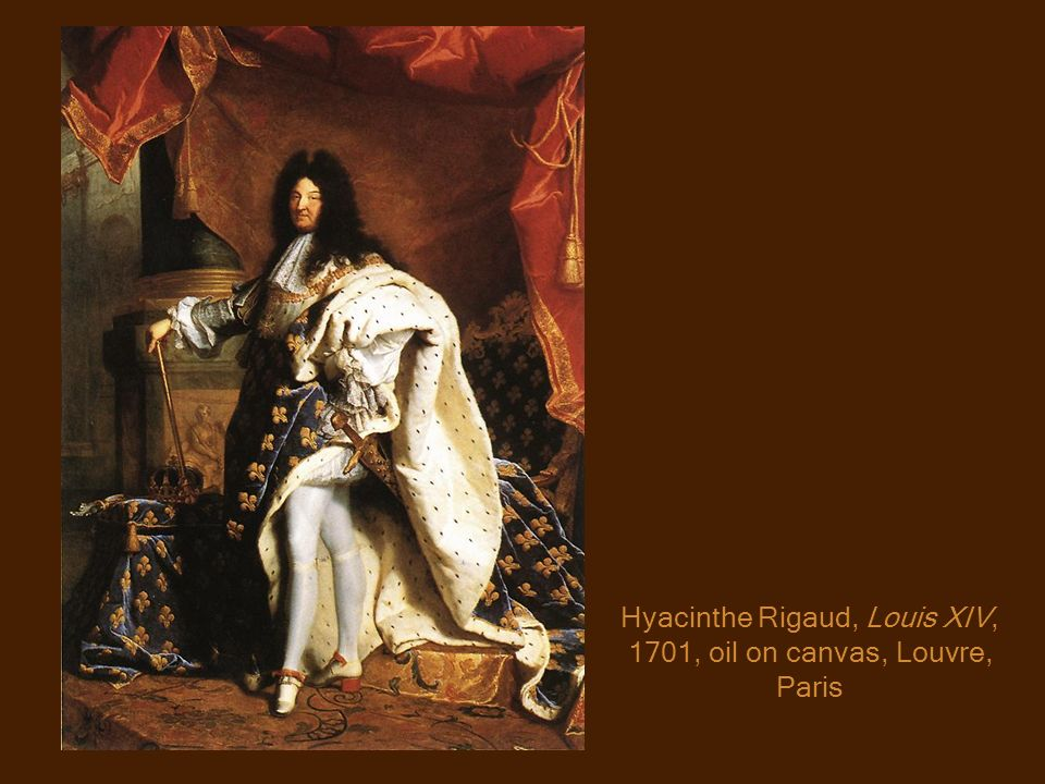 Hyacinthe Rigaud, Louis XIV, 1701, oil on canvas, Louvre, Paris