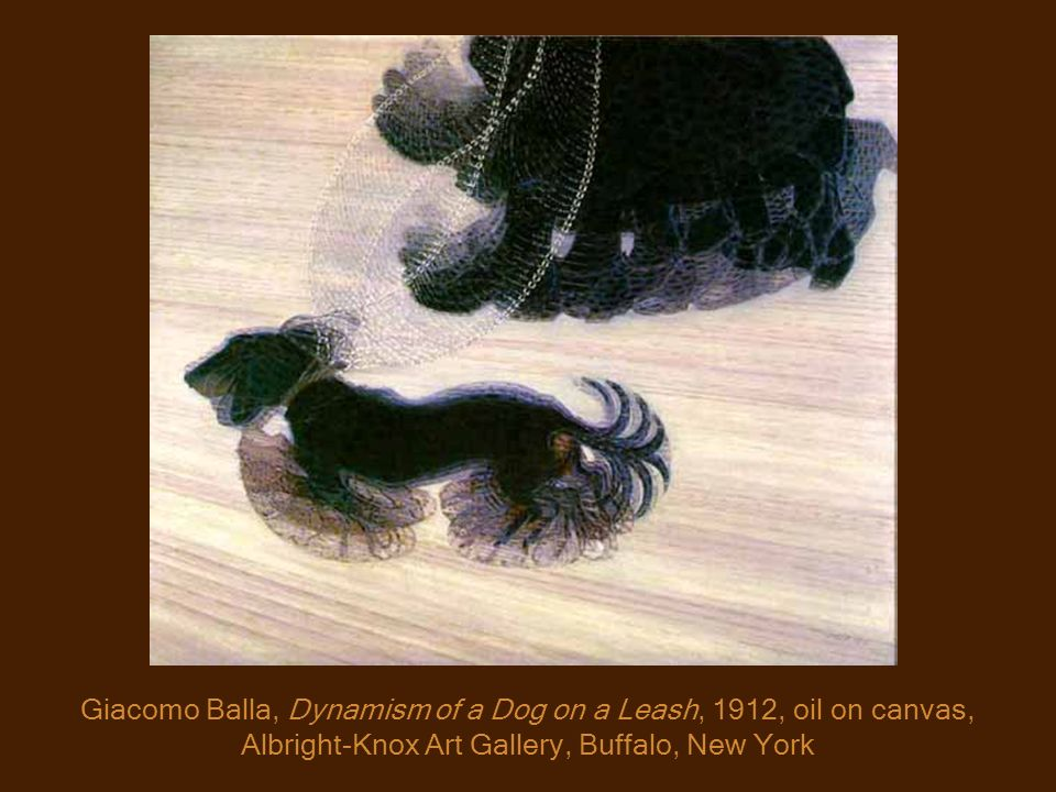 Giacomo Balla, Dynamism of a Dog on a Leash, 1912, oil on canvas, Albright-Knox Art Gallery, Buffalo, New York