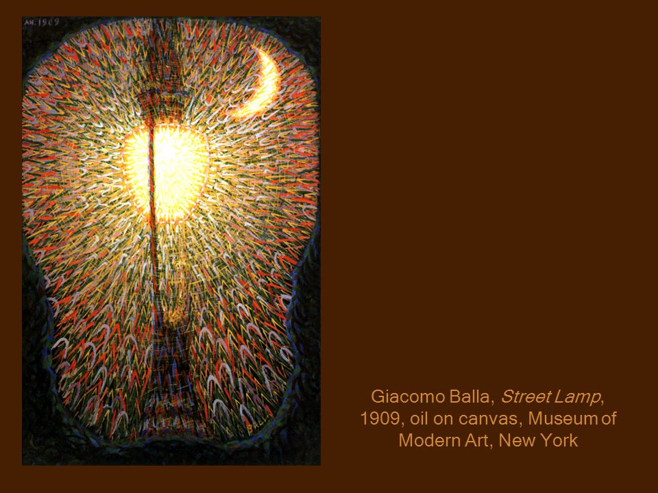 Giacomo Balla, Street Lamp, 1909, oil on canvas, Museum of Modern Art, New York